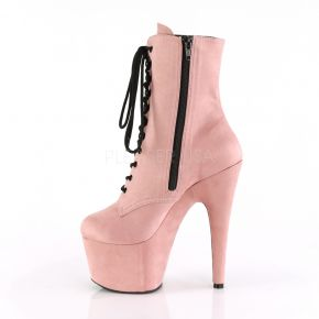 Faux Suede Platform Ankle Boot ADORE-1020FS - Baby Pink