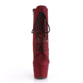 Faux Suede Platform Ankle Boot ADORE-1020FS - Burgundy