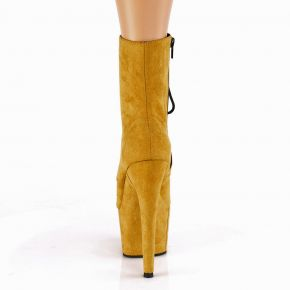 Lace Up Platform Ankle Boots ADORE-1020FS - Mustard
