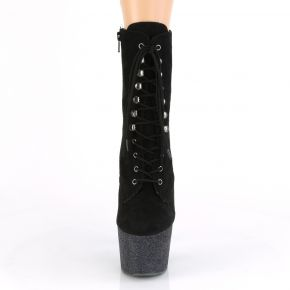 Lace Up Platform Ankle Boots ADORE-1020FSMG - Black