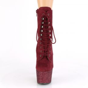 Lace Up Platform Ankle Boots ADORE-1020FSMG - Burgundy