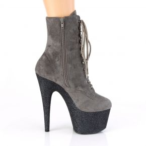 Lace Up Platform Ankle Boots ADORE-1020FSMG - Grey