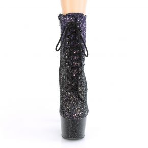 Lace Up Platform Ankle Boots ADORE-1020OMBG - Purple