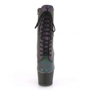 Platform Ankle Boots ADORE-1020REFL - Green/Black