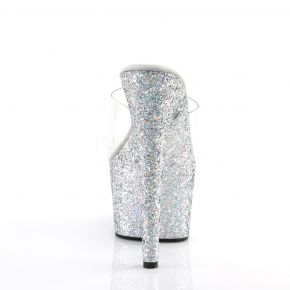 Platform mules ADORE-701LG - Silver