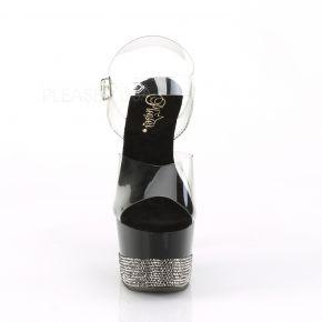 Platform High-Heeled Sandal ADORE-708-3 - Black/Pewter