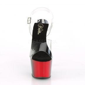 Platform High Heels ADORE-708BR - Black / Red