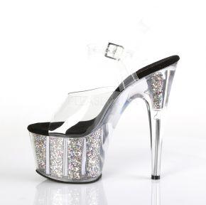 Platform High Heels ADORE-708CG - Silver
