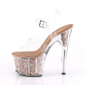 Platform High-Heeled Sandal ADORE-708G - Rose Gold