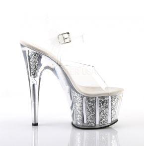 Platform High-Heeled Sandal ADORE-708G - Silver Glitter