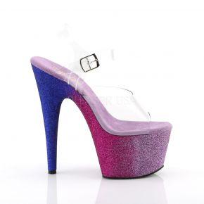 Platform High Heels ADORE-708LG - Fuchsia/Blue