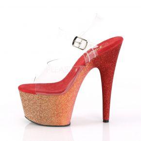 Platform High Heels ADORE-708LG - Gold/Red