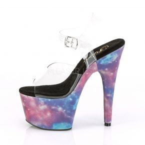 Platform High Heels ADORE-708REFL - Galaxy Clear