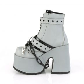 Gothic Boots  CAMEL-205 - Grey Reflective