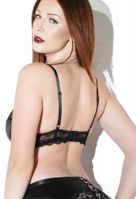 Lace Underwire Bra - Black