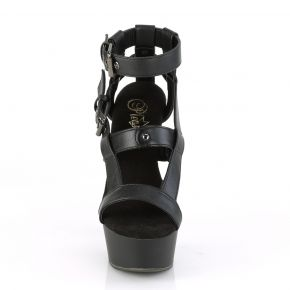 Platform High Heels DELIGHT-637 - Black Matte