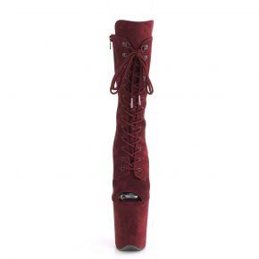 Extreme Platform Heels FLAMINGO-1051FS - Burgundy