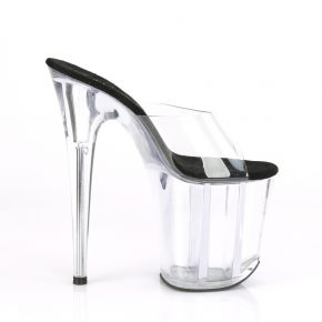 Extreme Platform Heels FLAMINGO-801 - Black/Clear