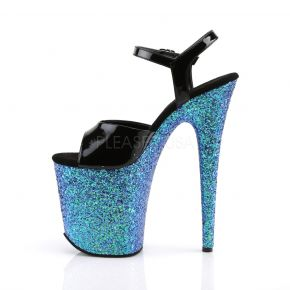 Extreme Platform High Heels FLAMINGO-809LG - Black/Blue