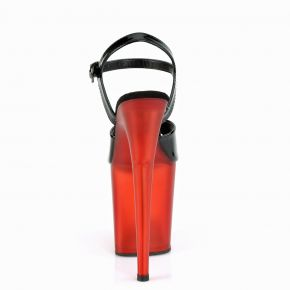 Extreme High Heels FLAMINGO-809T - Patent Black / Red