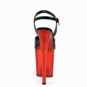 Extreme Platform Heels FLAMINGO-809T - PU Black / Red