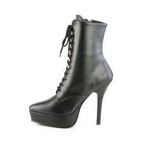 Platform Ankle Boots INDULGE-1020 - PU Black