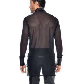 Long Sleeve Mesh Shirt JAYDEN - Black