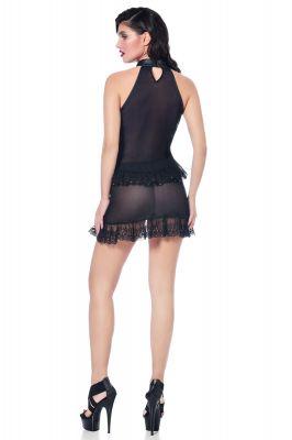 Transparent Skirt LUCILLE - Black
