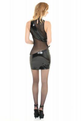 Vinyl Mini Dress KIM - Black