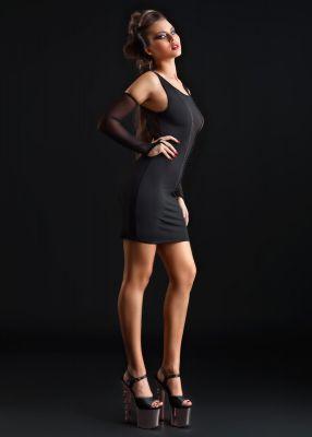 Stretch Mini Dress OPHELIA - Black