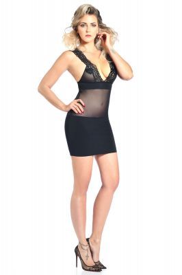 Straps Mini Dress JACYNTHE - Black
