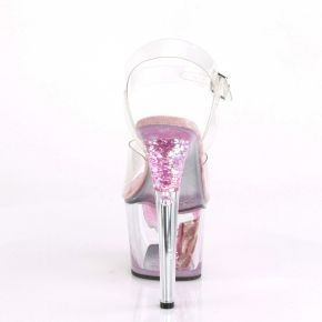 Platform High Heels SKY-308CF - Clear/Baby Pink