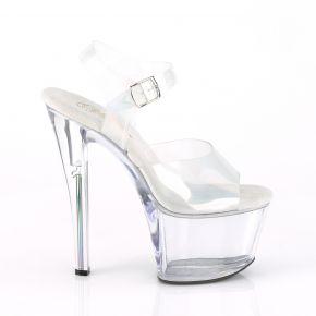 Platform High Heels SKY-308N-RBH - TPU Holographic/Clear