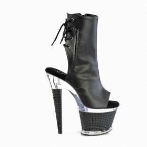Platform Ankle Boots SPECTATOR-1018 - PU Black