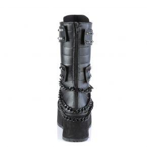 Gothic Platform Boots TRASHVILLE-138 - Black