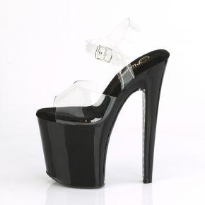 Extreme Platform Heels XTREME-808CHS - Black/Silver