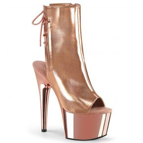 Patform Ankle Boots ADORE-1018 - Rose Golden Metallic