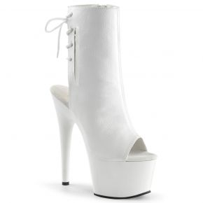 Platform ankle boots ADORE-1018 - PU White