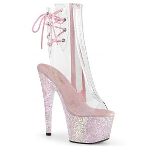 Platform Ankle Boots ADORE-1018C - Clear / Opal Pink
