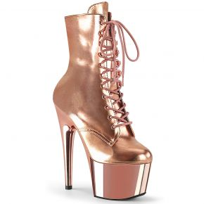 Platform Ankle Boots ADORE-1020 - Rose Gold Metallic