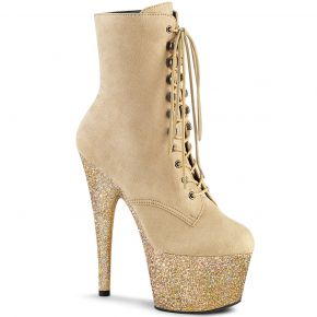 Lace Up Platform Ankle Boots ADORE-1020FSMG - Beige