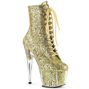 Glitter Platform Boots ADORE-1020G - Gold