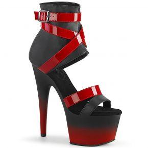 Platform High Heels ADORE-700-15 - Black / Red