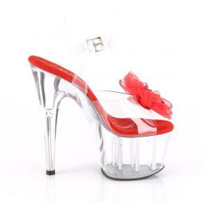 Platform High Heels ADORE-708BFL - Clear/Red