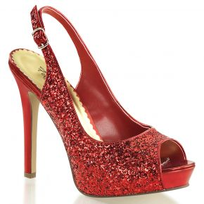 Peep Toe Sling Pumps LUMINA-28G - Red