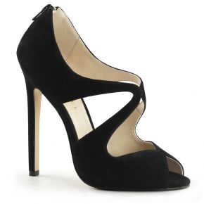 Stiletto Peep Toes SEXY-12 - Suede Black